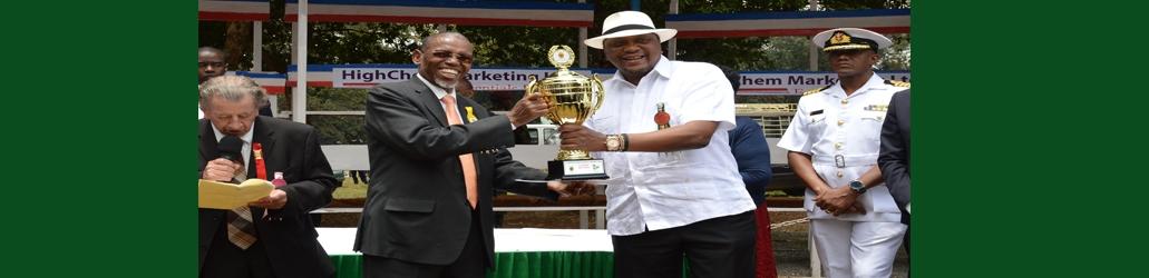 ADC Managing Director trophy presentation to President Uhuru Kenyatta