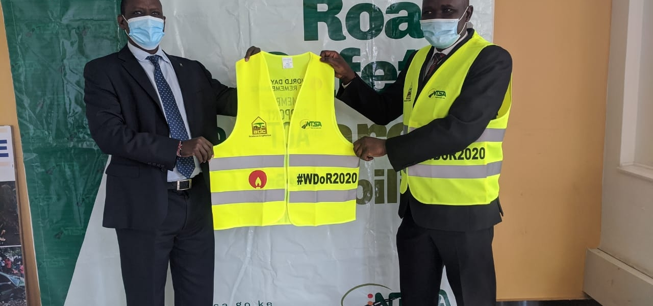 Handing over of Reflective vests to NTSA
